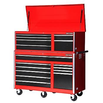 Craftsman Craftsman 56 Inch 16 Drawer Tool Storage Combo Red Black