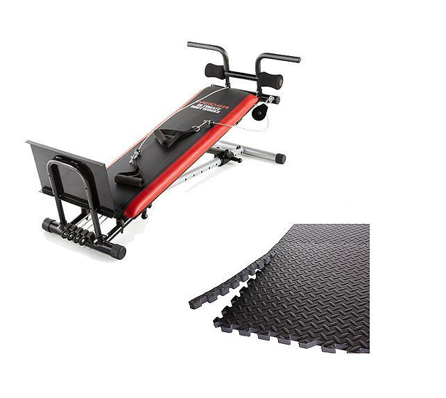 Fitness Exercise Total Body Workout Home Gym Weider Bonus 6 Pc Mat Ab Routine