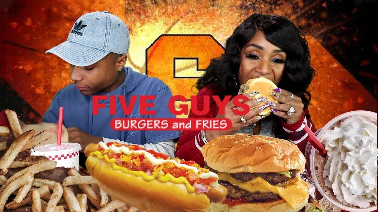 5 guys triple cheese burger cajun fries double lettuce