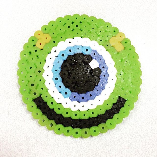 Mike coaster perler beads by yuipin_s2 … | fuse beads | Hama