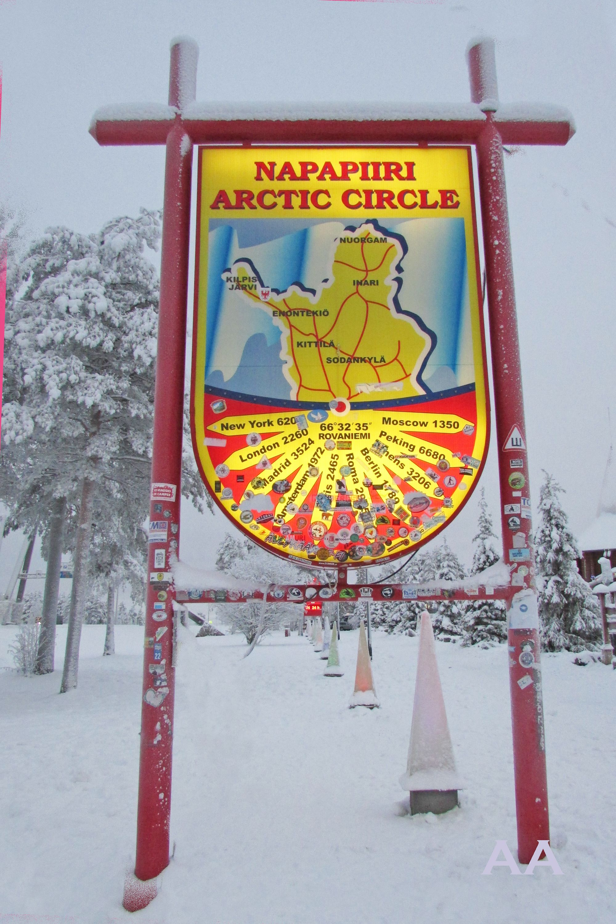 Napapiiri Arctic Circle The Polar Night In Finland Rovaniemi
