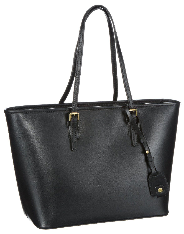 marc o 39 polo accessories heather damen shopper handtasche aus leder in schwarz zum preis von 249. Black Bedroom Furniture Sets. Home Design Ideas