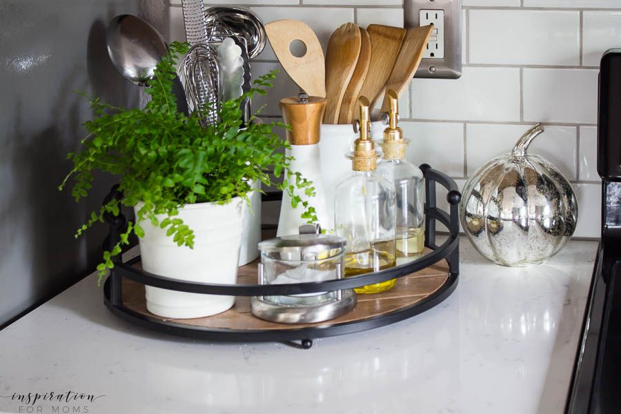 Early Fall Home Tour Neutrals And Buffalo Check Kitchen Tray Home Decor Kitchen Spring Home Decor