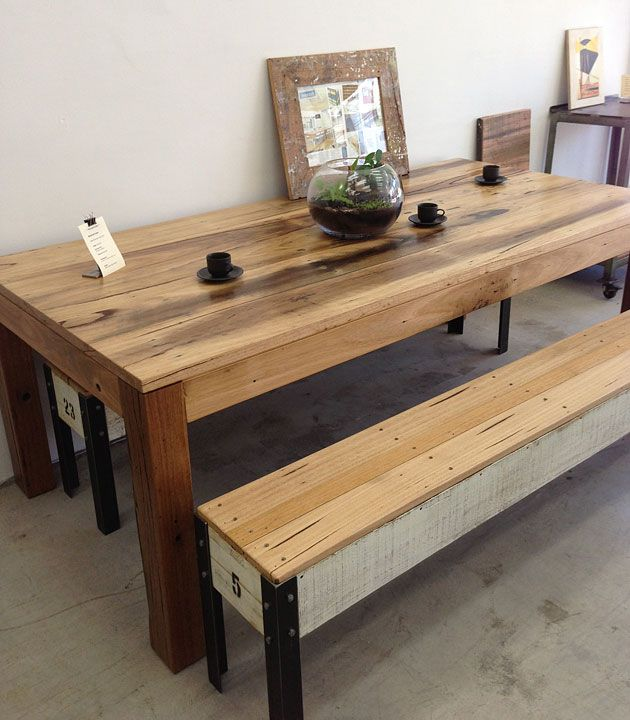 Industrial Coffee Table Melbourne: Recycled Timber Furniture, Recycled Lane, Northcote