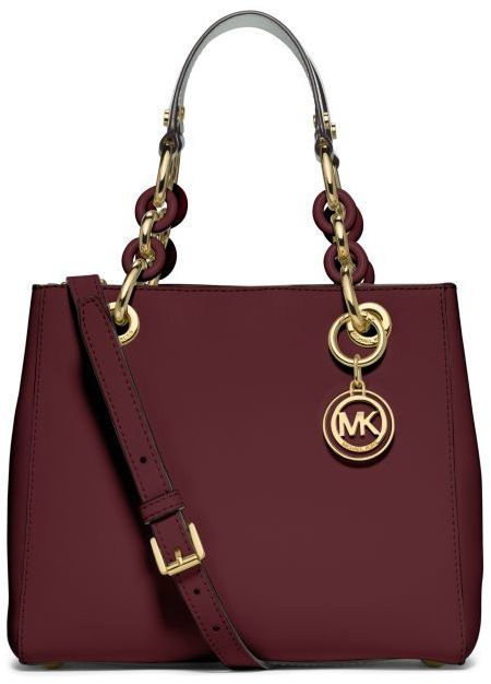 ef2487ad9742 Michael Kors Cynthia Small Leather Satchel