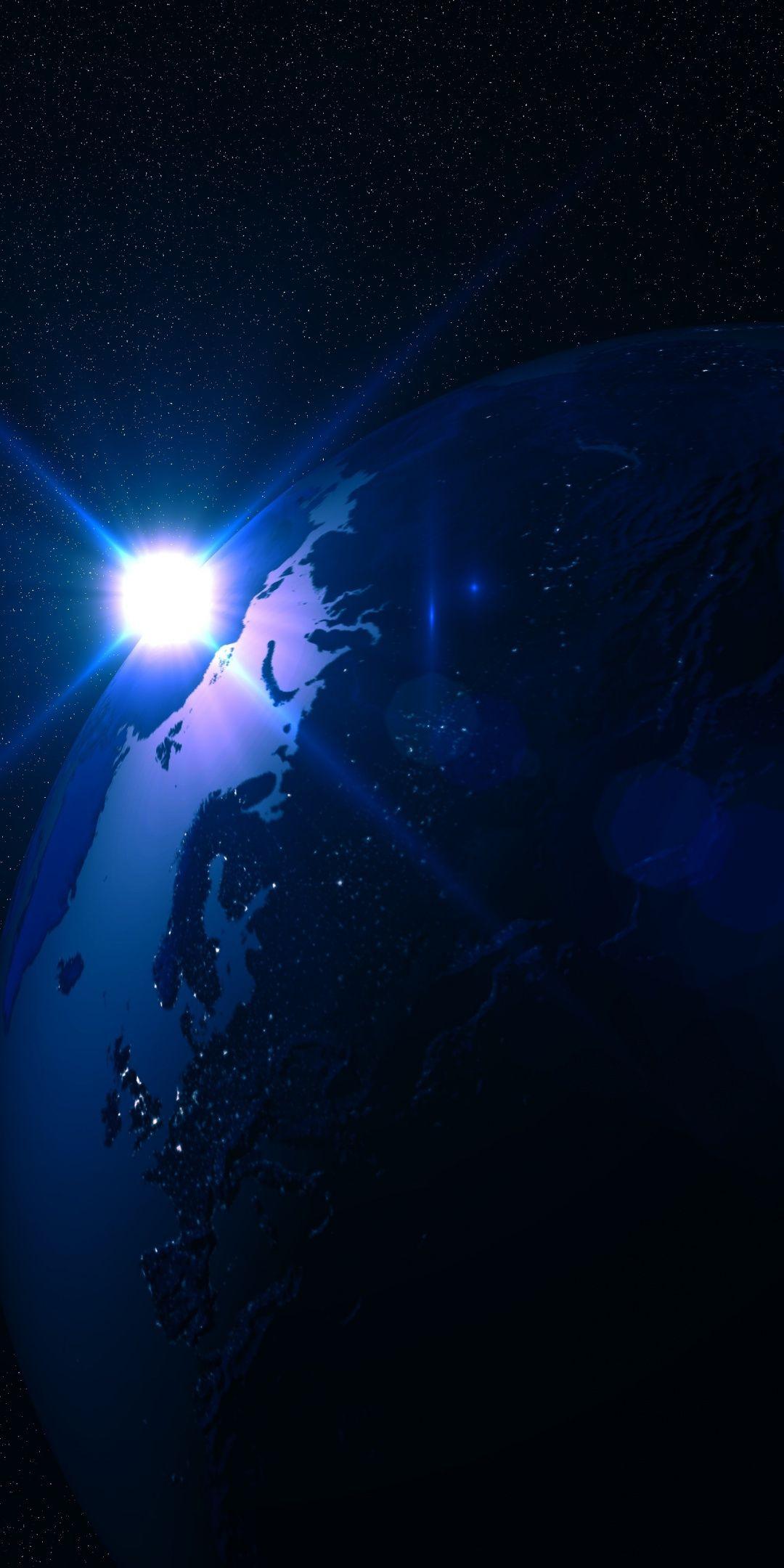 Planet Star Shine Dark Space 1080x2160 Wallpaper Planets Wallpaper Background