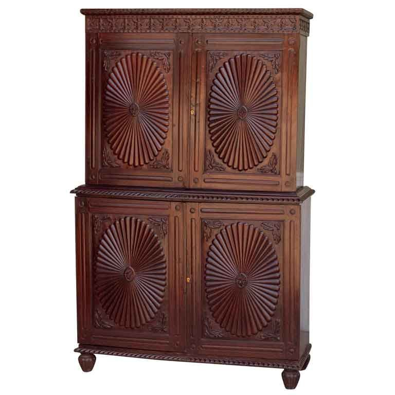 Indo Portuguese Sunburst Armoire In Solid Rosewood | From A Unique  Collection Of Antique And. Modern WardrobeFurniture ...