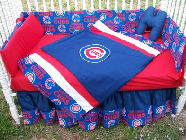 new custom baby crib bedding set mw chicago cubs fabric | baby
