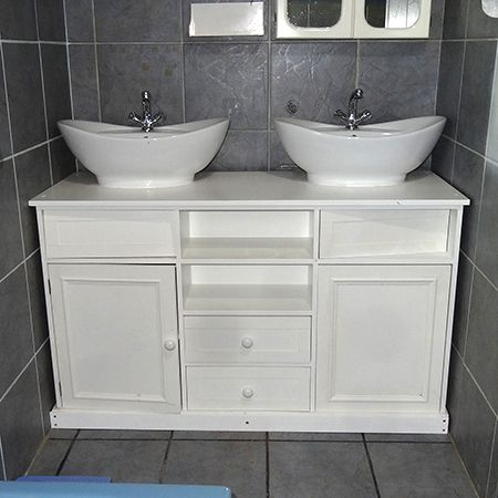 on sale ead41 470f6 replace pedestal sink with double his and hers bathroom ...