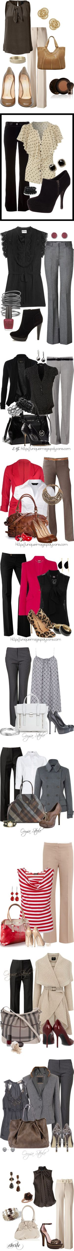 Love all of these outfits---probably already pinned them, in fact! :)