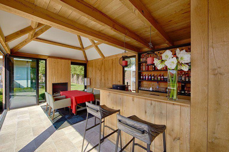 Poolhouse in afrormosia hardhout bogarden zwembad pinterest tuin