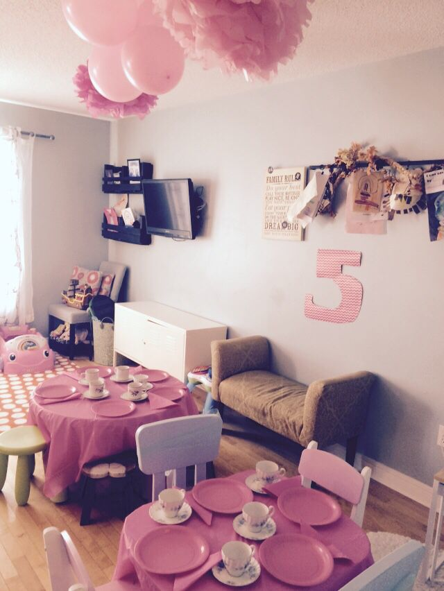 Princess Tea Party Table Set Up For My 5 Year Old Girl