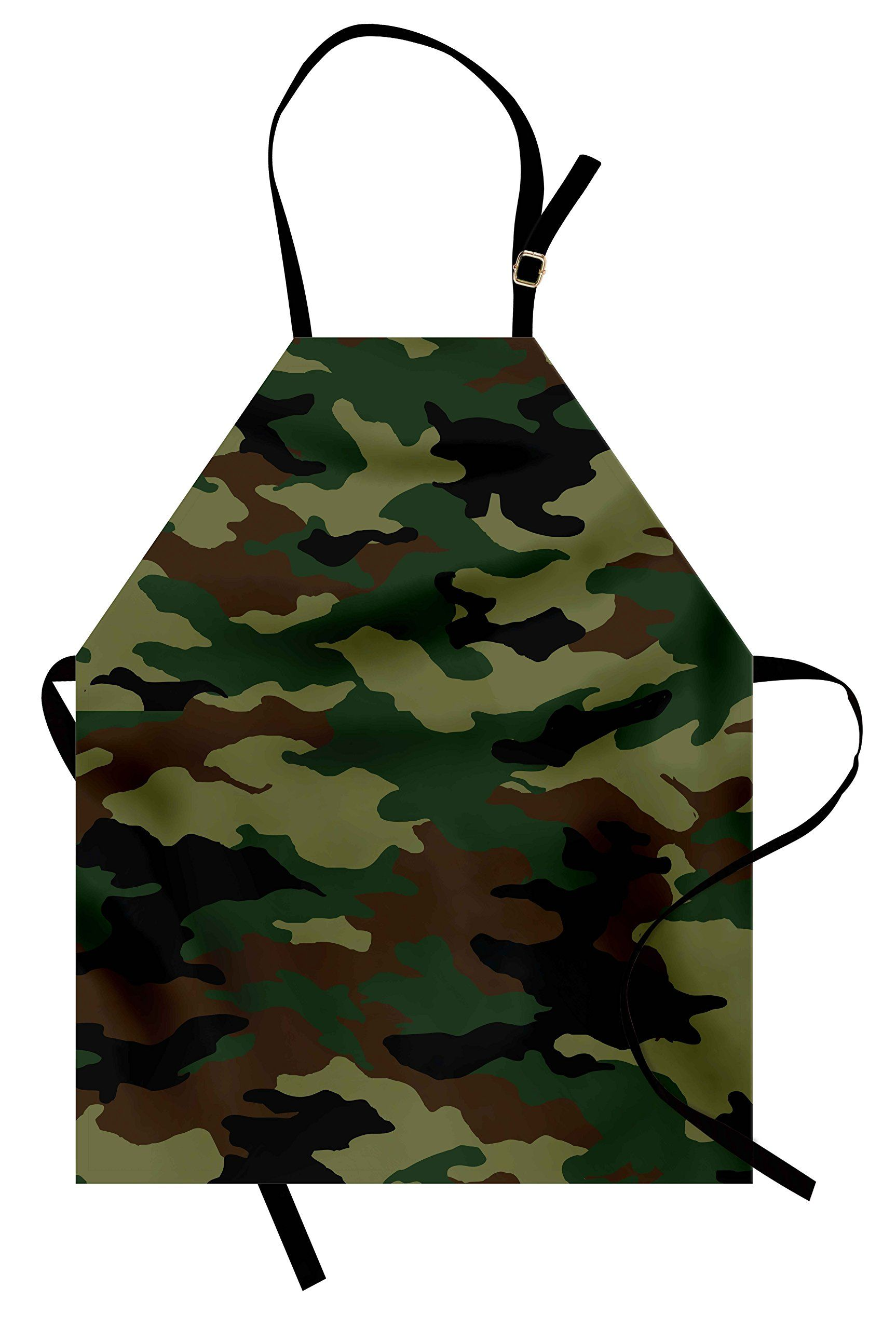 camo apron by ambesonne