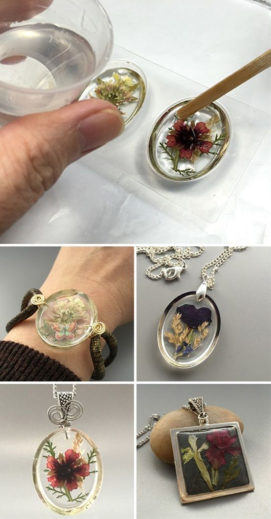 Jewelry Making Accessory Glass Pendants With Dried Flowers Time Gem Gifts