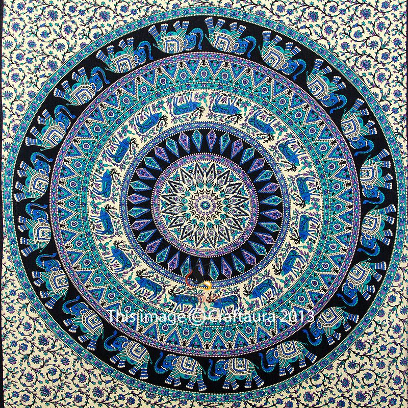 Indian Tapestry Wall Hanging indian elephant mandala tapestry wall hanging hippie tapestries