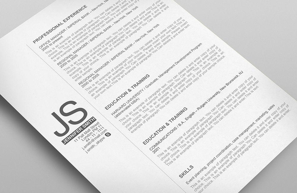 Resume Template 110540 Templates by Resumeway Resume