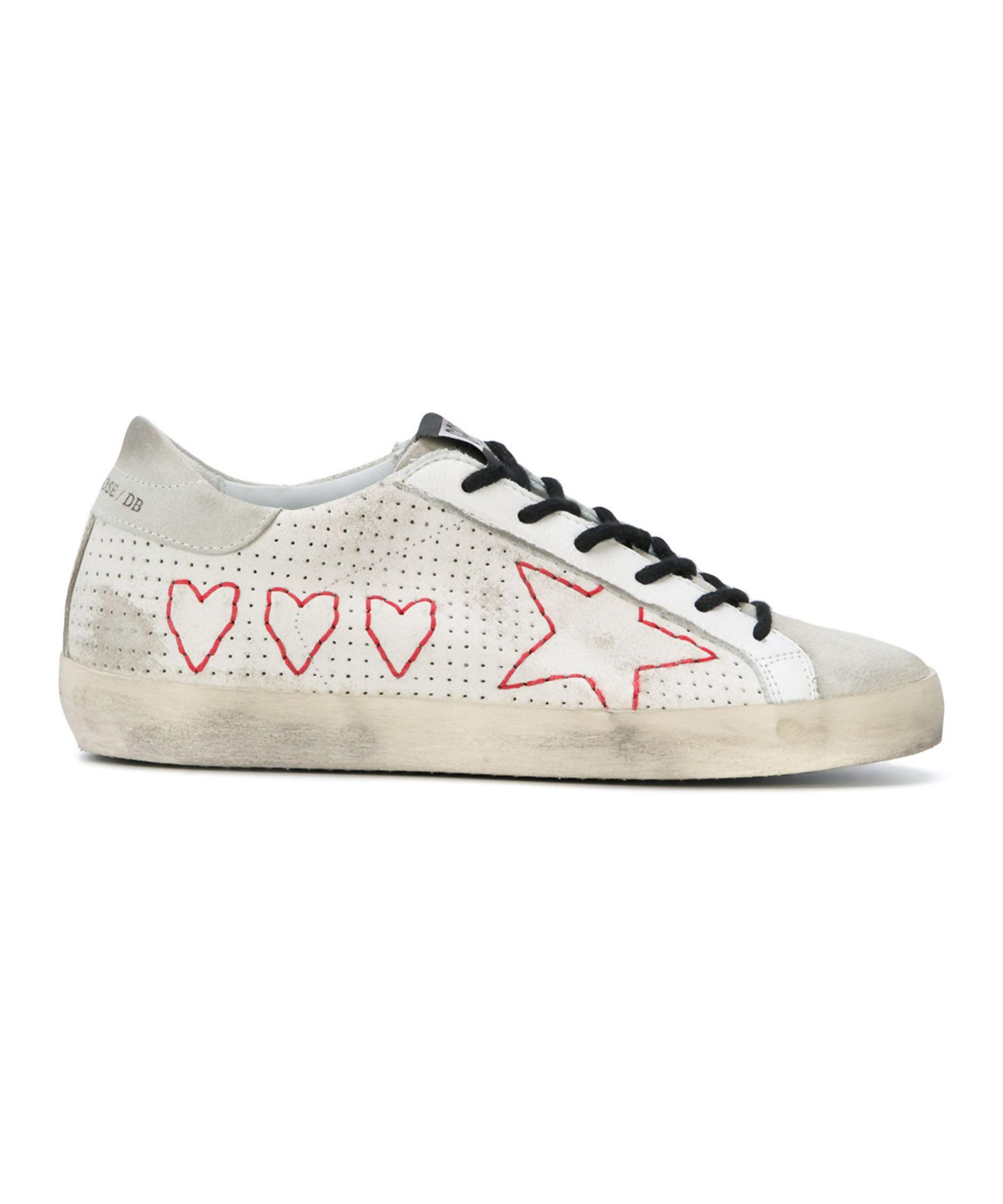 GOLDEN GOOSE | Golden Goose Women's White Leather Sneakers