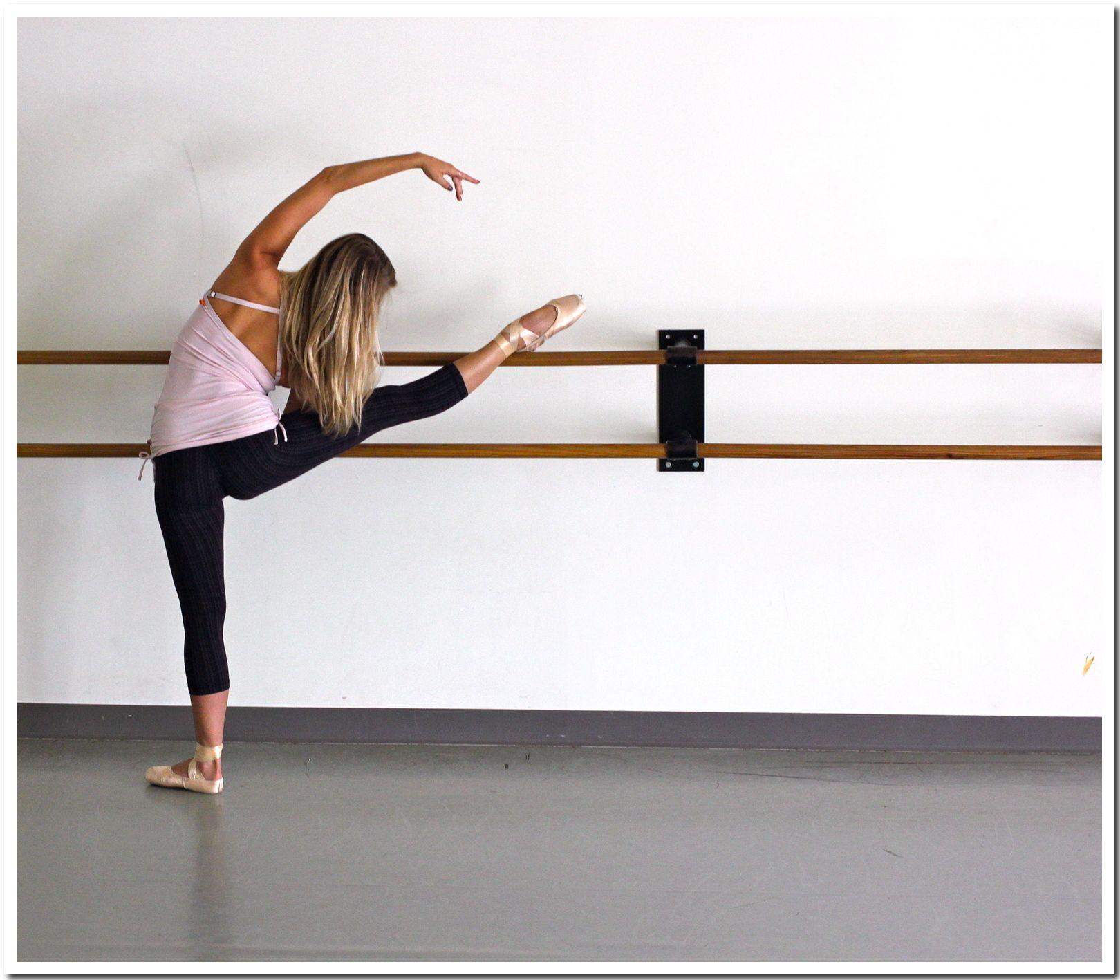 At the ballet barre professional ballerina kirsten evans