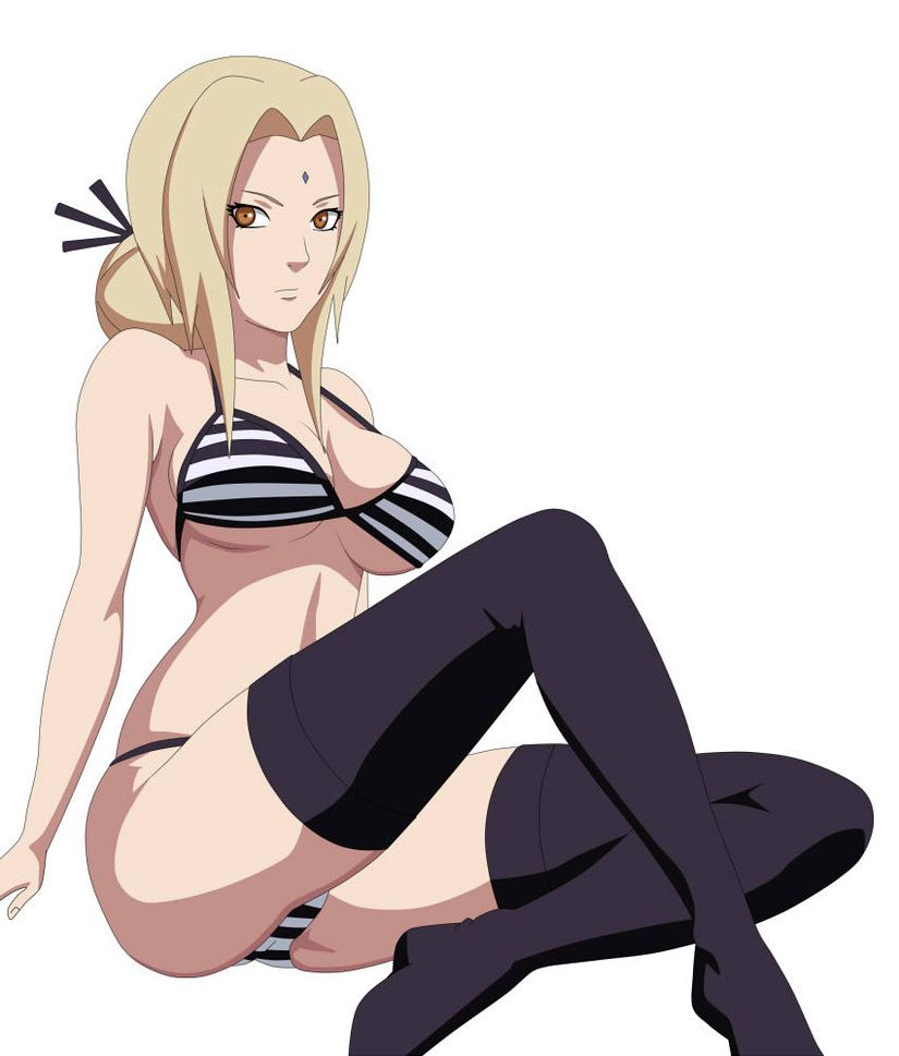 Sexy female anime ninja naked