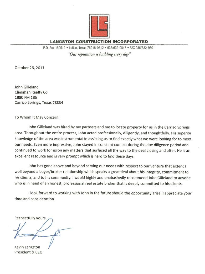 Business Letter of Reference Template – Template for Letter of Reference
