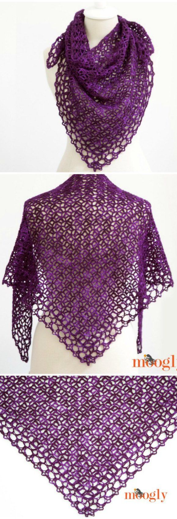 Fortunes Crochet Shawlette Pattern - Free Video And Written Tutorial ...