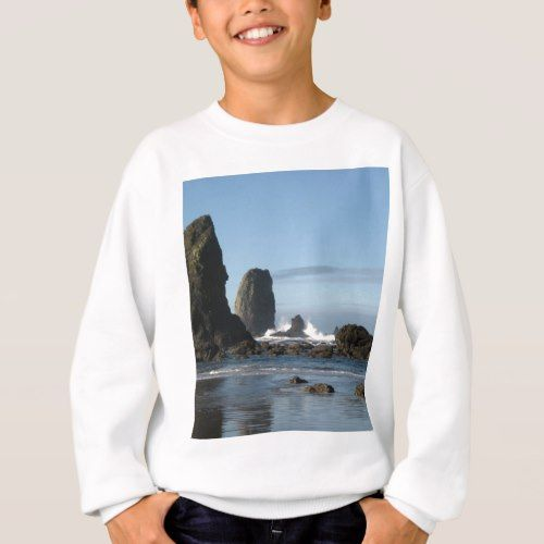 Cannon Beach and Haystack Rock wrapping paper Sweatshirt