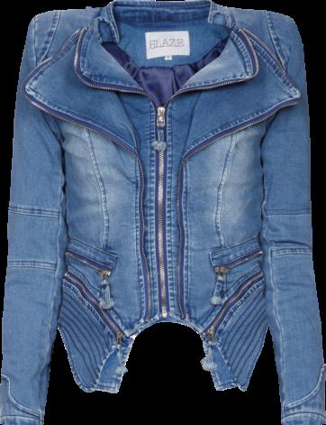 Vintage Washed Jeansjacke im Double-Layer-Look von Blaze