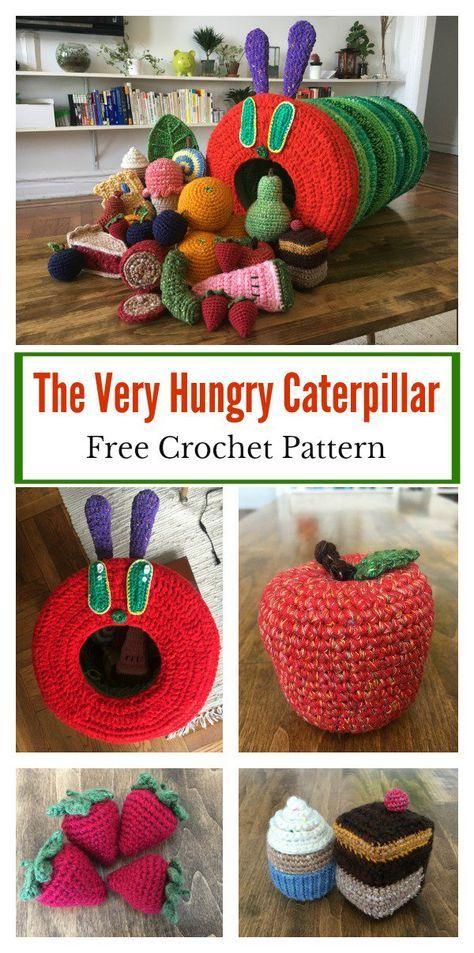 The Very Hungry Caterpillar Free Crochet Pattern