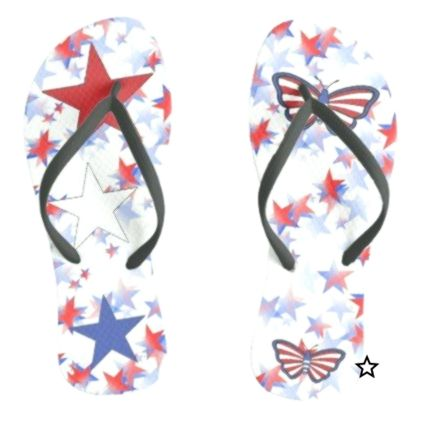 Celebration of Independence Flip Flops