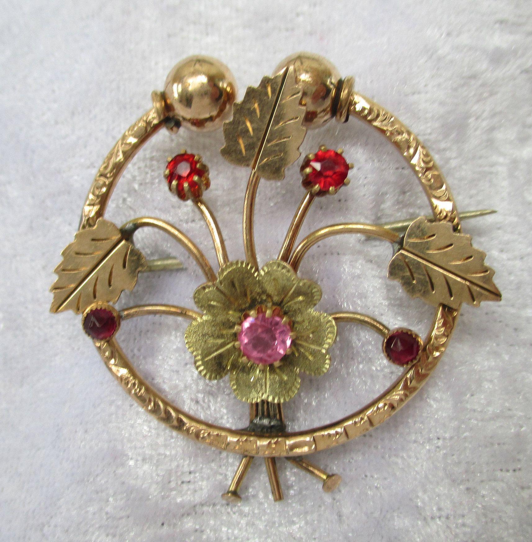 Vintage Gold Filled Brooch Delicate