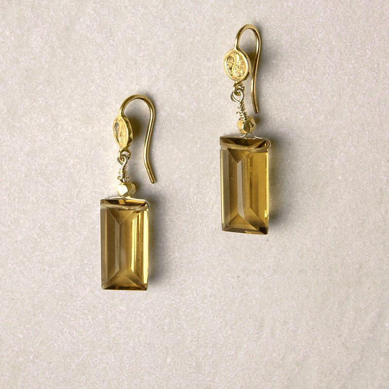 Smoky Quartz Earrings | Vickerey