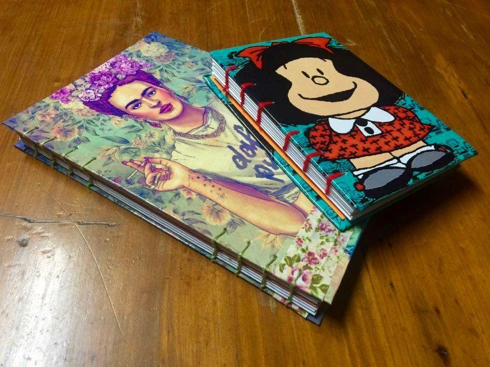 Cuadernos personalizados laminados + costura artesanal  2cfd13970273