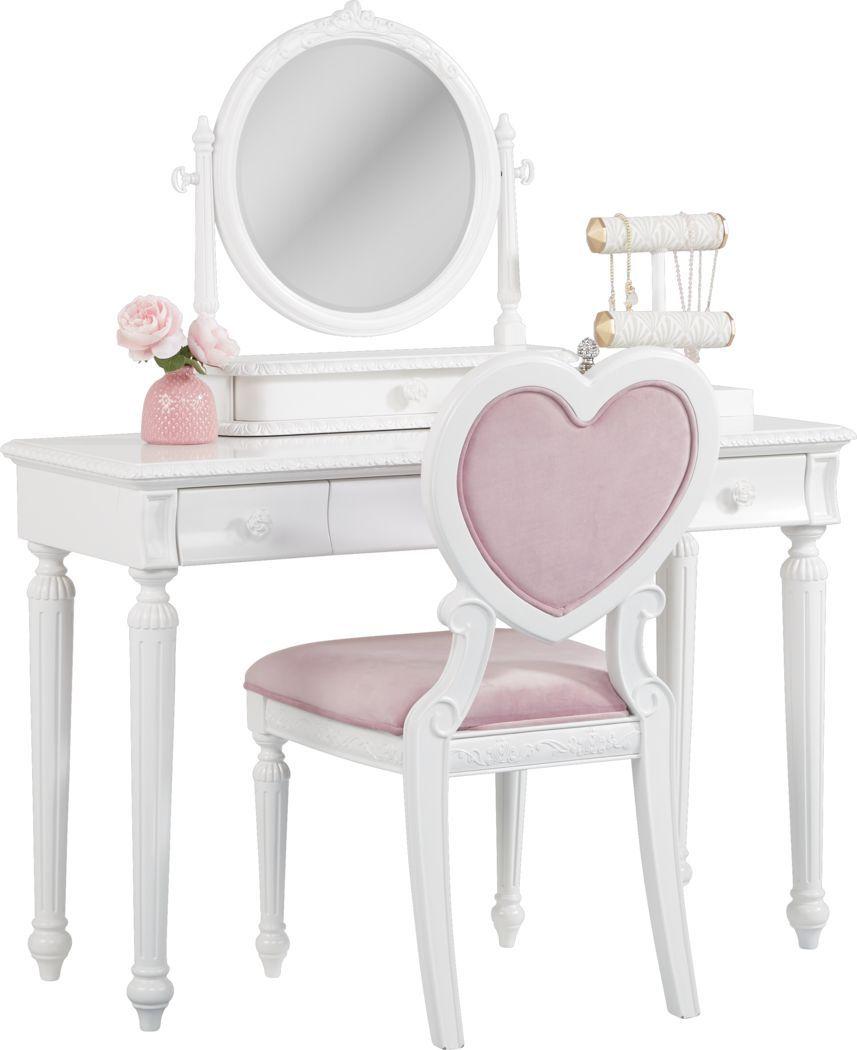 Disney Princess Dreamer White Vanity Set Bedroom Vanity Set White Vanity Set Girls Vanity Set