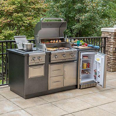 Saber Ez Outdoor Kitchen With Fridge