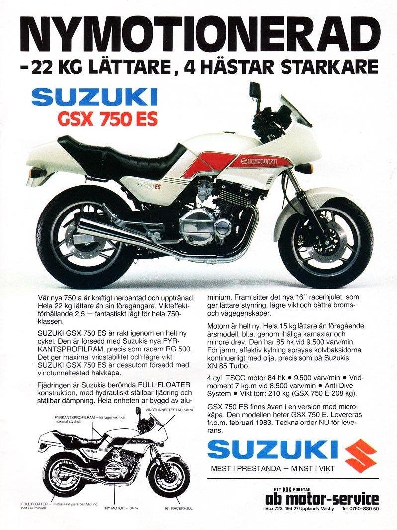 1983 Suzuki GSX750ES ad.