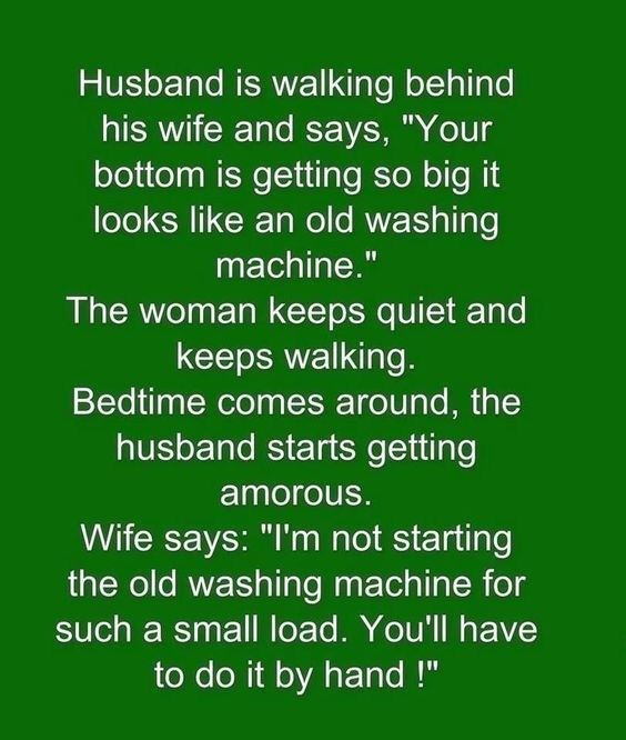 Funny Husband And Wife Joke Pictures, Photos, And Images -8597