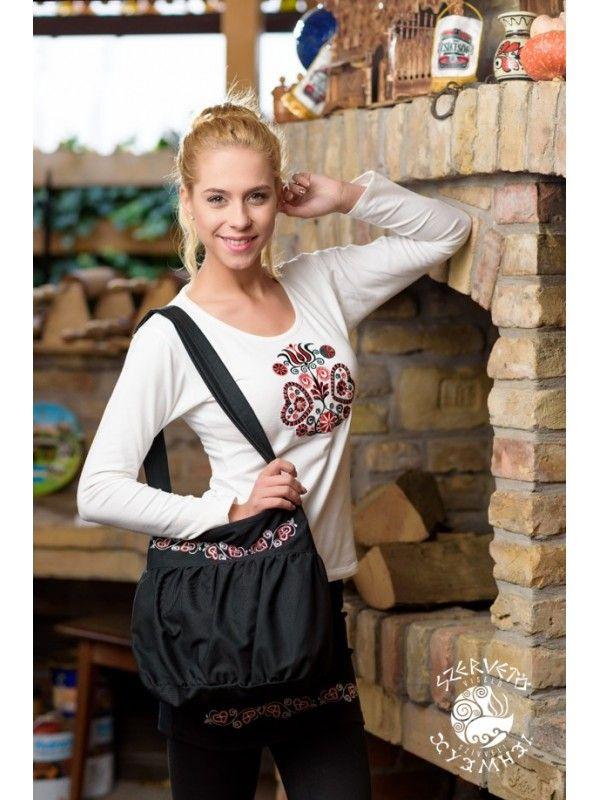 Szervető-buzsáki buggyos táska - fekete  6dfd31e8ee