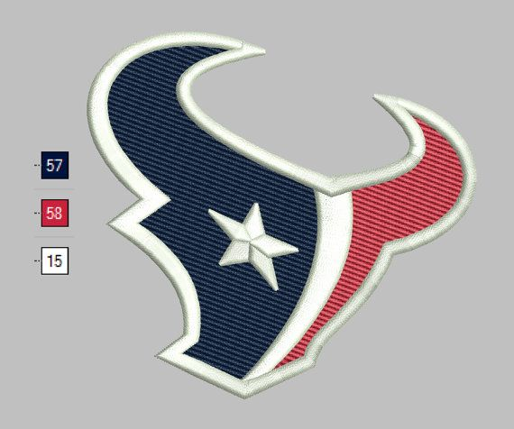 Texans Embroidery Houston Design Files 5 By Digitalembroidery
