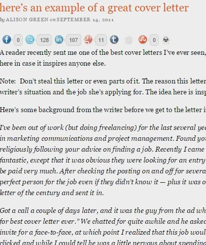 example of a great cover letter u2014 Ask a Manager career Pinterest - great cover letters