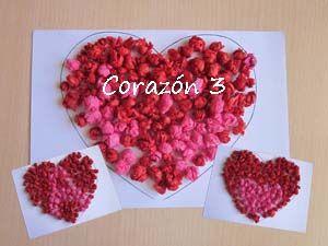Corazón 3 | Manualidades, Manualidades niños 3 años y Corazones