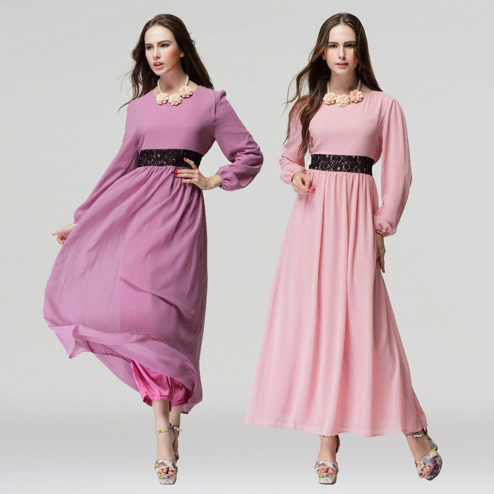 US $8.8 Islamic women summer dress abaya Muslim women fashion