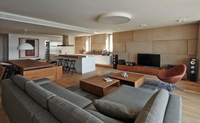 Küchengestaltung Ideen Küchenbilder offene Küchen Wohnzimmer