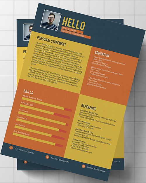 Psd Resume Templates  Job SearchResume