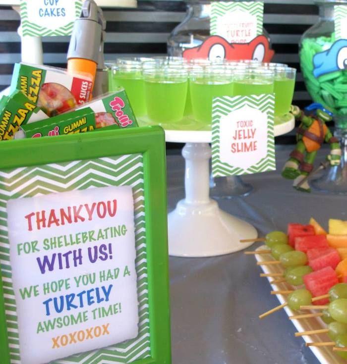 Teenage Mutant Ninja Turtles Themed Birthday Party With So Many