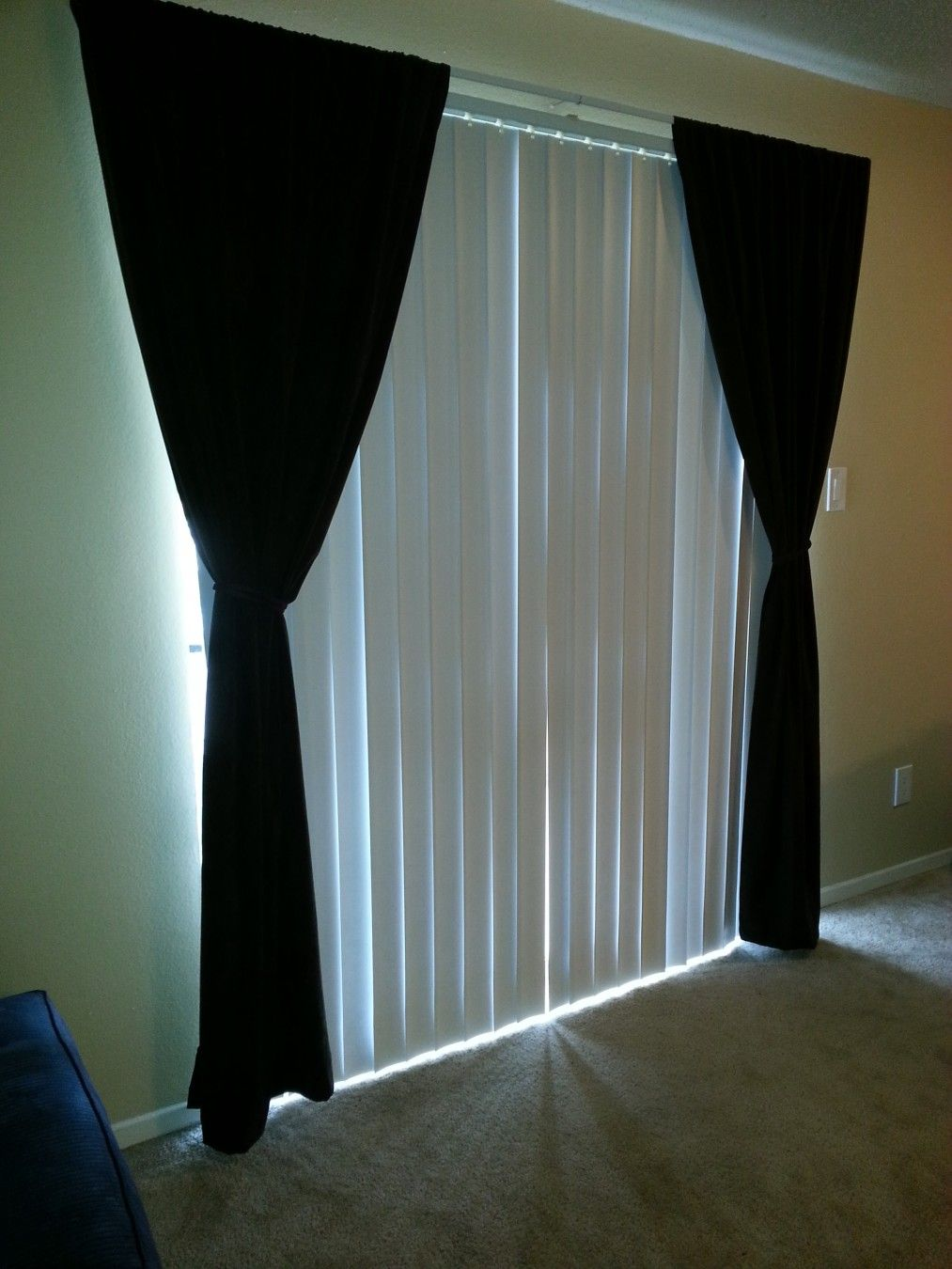 Decoration Ideas Curtains Over Vertical Blinds Blinds And Curtains