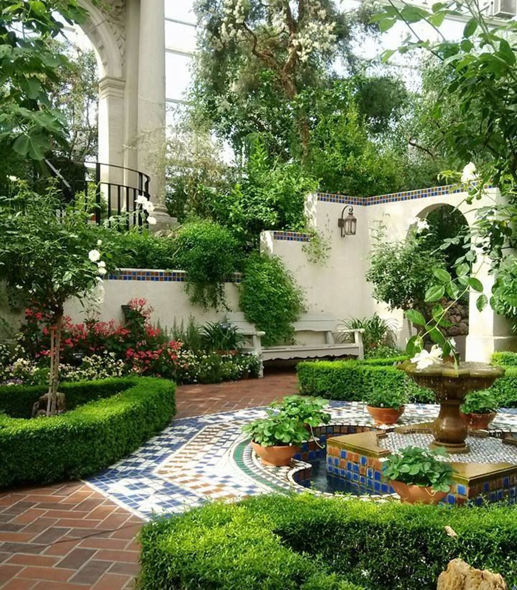 While Our Damp British Summers Unpredictable Climates And Rough And Ready Terrains Might Be Courtyard Gardens Design Small Courtyard Gardens Beautiful Gardens