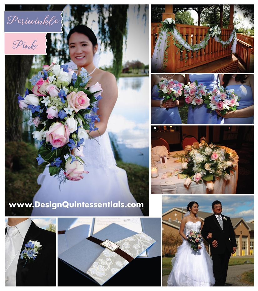 Periwinkle Pink Wedding Color Combos Theme Outdoor