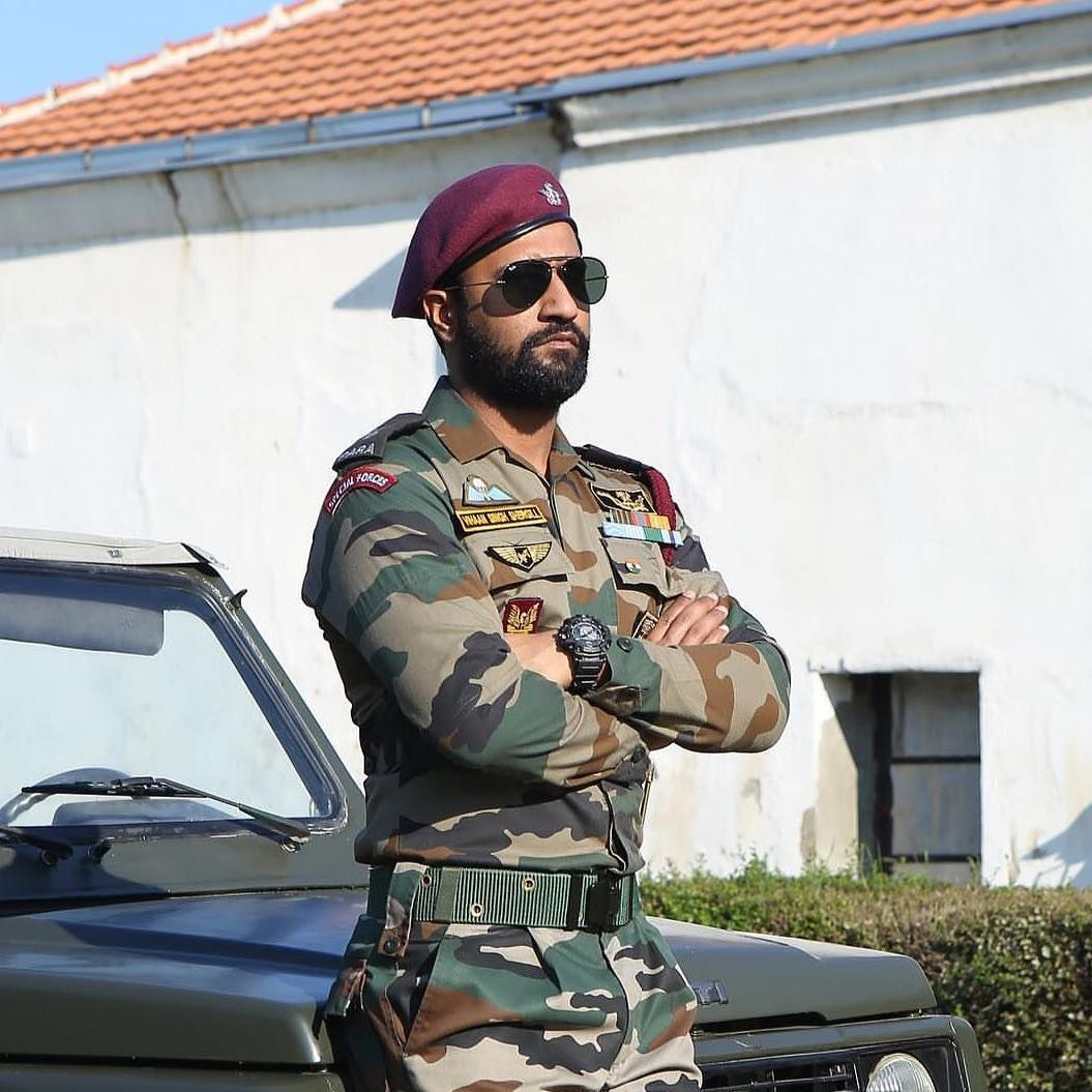 Image may contain 1 person, beard Indian army
