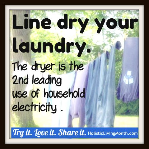 Line dry your laundry. Try it. Love it. Share it.