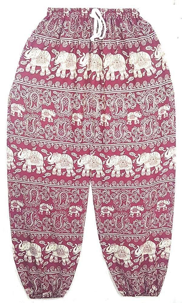 Thai Elephant Pants Hippie Women Harem Trousers Pantalones Blue Color - CS18IMOTALZ - Sports & Fitne...